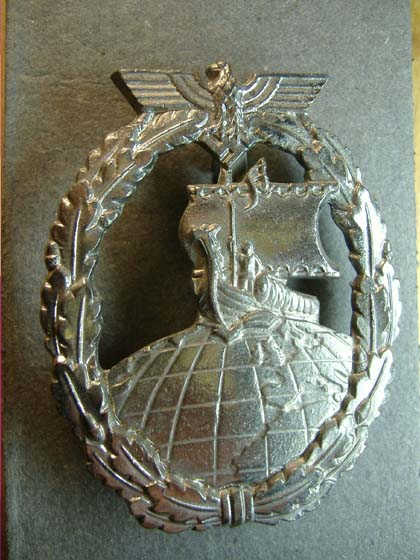 German Nazi Auxiliary Cruiser Badge WW2 - Repro