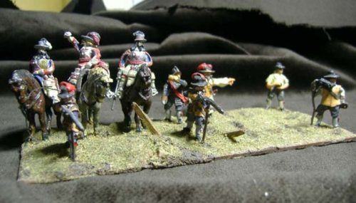 25mm English Civil War x 9
