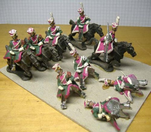 25mm French Napoleonic Cavalry x 9