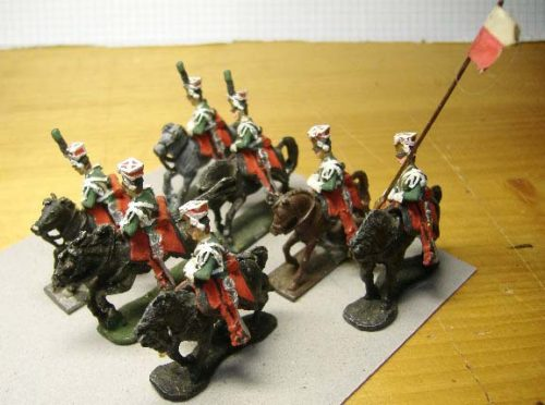 25mm French Napoleonic Cavalry x 7