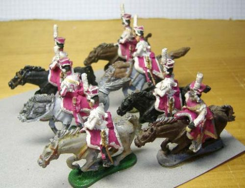 25mm French Napoleonic Cavalry x 7 (2)